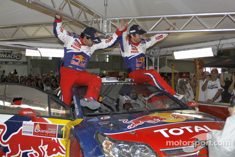 Winnaars Sébastien Loeb en Daniel Elena, Citroën C4, Citroën Total World Rally Team