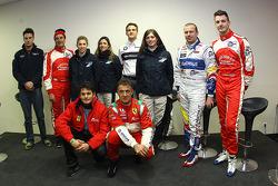 LMS press conference: Greg Mansell, Nigel Mansell, Natacha Gachnang, Rahel Frey, Dirk Werner, Cyndie Allemann, Olivier Panis, Leo Mansell, Giancarlo Fisichella and Jean Alesi
