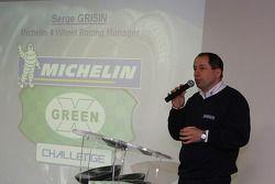 LMS persconferentie: Serge Grisin op het podium