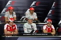 Fernando Alonso, Scuderia Ferrari, Jenson Button, McLaren Mercedes, Michael Schumacher, Mercedes GP Petronas, Lewis Hamilton, McLaren Mercedes, Felipe Massa, Scuderia Ferrari