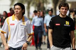 Ho-Pin Tung, testrijder, Renault F1 Team, Jerome D'Ambrosio, testrijder, Renault F1 Team