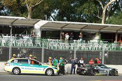 Audi R8 GT3 van Mark Eddy crasht tijdens de kwalificatie