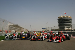 All the Formula 1 drivers pose for a photo