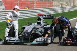 Nico Rosberg, Mercedes GP and Sebastian Vettel, Red Bull Racing