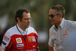Stefano Domenicali Ferrari General Director met Martin Whitmarsh, McLaren, Chief Executive Officer
