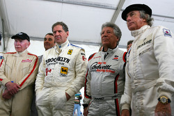 John Surtees, 1964 F1 World Champion, Jody Scheckter, 1979 F1 World Champion, Mario Andretti, 1978 F1 World Champion, Sir Jackie Stewart, 1969, 1971, 1973 F1 World Champion, Damon Hill, 1996 F1 World Champion, Nigel Mansell, 1992 F1 World Champion