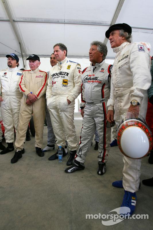 John Surtees, 1964 F1-wereldkampioen, Jody Scheckter, 1979 F1-wereldkampioen, Mario Andretti, 1978 F1-wereldkampioen, Sir Jackie Stewart, 1969, 1971, 1973 F1-wereldkampioen, Damon Hill, 1996 F1-wereldkampioen, Nigel Mansell, 1992 F1-wereldkampioen