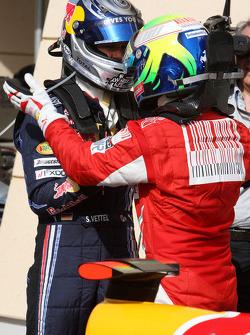 El piloto que logró la pole positon, Sebastian Vettel, Red Bull Racing y Felipe Massa, Scuderia Ferr