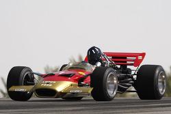 Joshua Hill, 1996 F1 World Champion drives the 1968 Lotus 49B