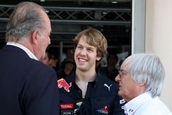Juan Carlos I, rey de España, Sebastian Vettel, Red Bull Racing, Bernie Ecclestone