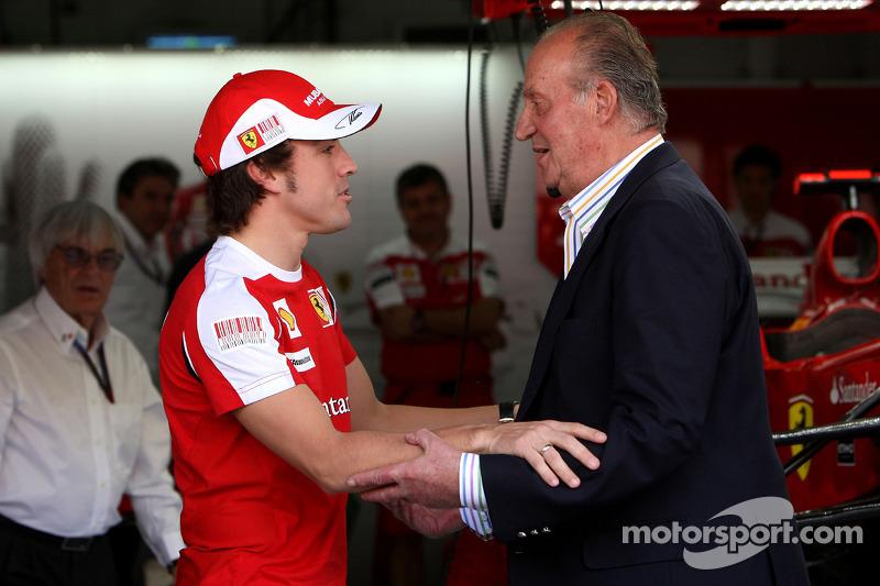 Fernando Alonso, Scuderia Ferrari y Juan Carlos I, rey de España