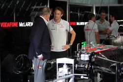 Juan Carlos I, rey de España, Jenson Button, de McLaren Mercedes