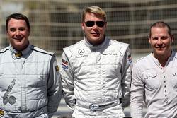 Nigel Mansell, campeón mundial de F1 de 1992, Mika Hakkinen, 1998, campeón mundial de F1 1999, Jacques Villeneuve, campeón mundial de F1 de 1997