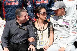 Jean Todt, President de la FIA, Michelle Yeoh, ex. James Bond girl, actrice, amie de Jean Todt, Michael Schumacher, Mercedes GP