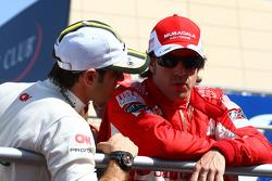Jarno Trulli, Lotus F1 Team y Fernando Alonso, Scuderia Ferrari
