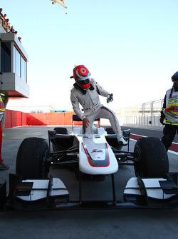 Kamui Kobayashi, BMW Sauber F1 Team se retiró de la carrera