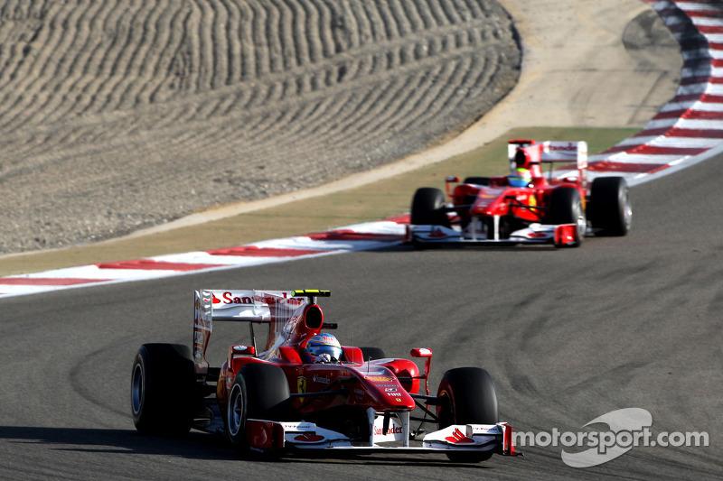 Fernando Alonso, Scuderia Ferrari lídera Felipe Massa, Scuderia Ferrari