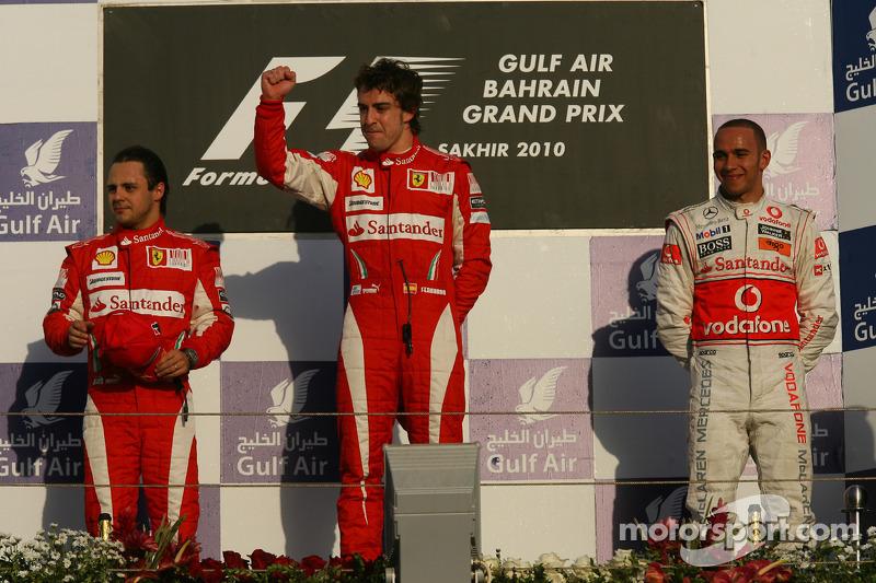 2010: Fernando Alonso, Felipe Massa, Lewis Hamilton