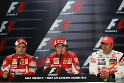 Conferencia de prensa: carrera ganador Fernando Alonso, Scuderia Ferrari, con segundo lugar Felipe M