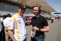 Vitlay Petrov Renault F1 Driver sur la grille GP2