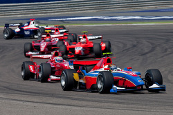 Davide Valsecchi leads Alexander Rossi, Javier Villa and Alexander Rossi