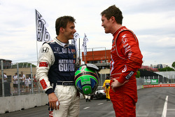 Dan Wheldon, Panther Racing et Scott Dixon, Target Chip Ganassi Racing