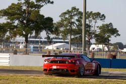 Spin voor #62 Risi Competizione Ferrari F430 GT: Jaime Melo, Gianmaria Bruni, Pierre Kaffer