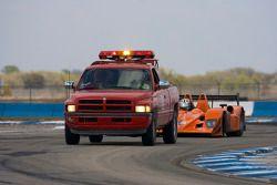 #12 Autocon Motorsports Lola B06 10 AER: Bryan Willman, Tony Burgess, Pierre Ehert achter de sleepwa