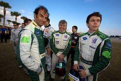 Photoshoot met de rijders: Emanuele Pirro, Paul Drayson en Jonny Cocker