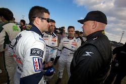Photoshoot met de rijders: Nicolas Minassian, Marc Gene, Pedro Lamy en Paul Gentilozzi