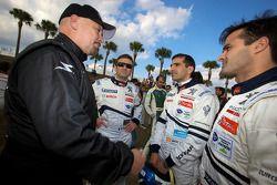 Photoshoot met de rijders: Paul Gentilozzi, Nicolas Minassian, Marc Gene en Pedro Lamy