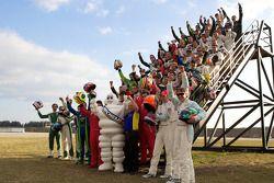 Photoshoot met de rijders: the Michelin drivers
