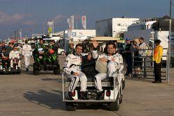 Photoshoot met de rijders: Marc Gene en Pedro Lamy