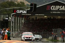 Garth Teter takes out race two of the Clipsal 500 for Toll Holden Racing Team