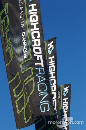 Patron Highcroft Racing vlaggen