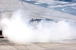 Race winner Justin Allgaier celebrates