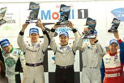 PC podium: winnaars Scott Tucker, Christophe Bouchut en Mark Wilkins