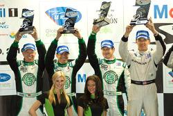 PC podium: 2de Christian Zugel, Gunnar Jeannette en Elton Julian