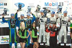 P2 podium: class winners Greg Pickett, Klaus Graf and Sascha Maassen, second place David Brabham, Si