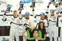 P1 podium: 2de Pedro Lamy, Sébastien Bourdais en Nicolas Minassian