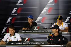 Jarno Trulli, Lotus F1 Team, Bruno Senna, Hispania Racing F1 Team, Vitaly Petrov, Mark Webber, Red B