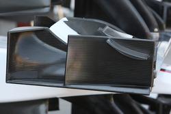 détail, aileron avant end plate, BMW Sauber F1 Team