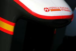 Hispania Racing F1 Team aileron avant détail
