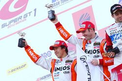 GT500 Podium : 2nd Place #6 Eneos SC430: Daisuke Ito, Bjorn Wirdheim
