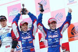GT500 Podium : 3rd Place #100 Raybrig FSV-010: Takuya Izawa, Naoki Yamamoto