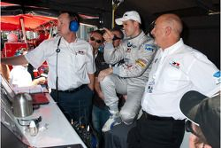 Dirk Muller waits with the rest of his team to see if his qualifying time will hold up