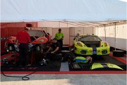 Risi Competizione crew at work in the paddock