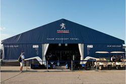 Team Peugeot Total's massive paddock tent
