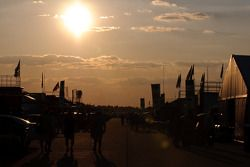 Sunset in the paddock