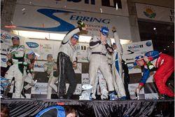 PC podium: champagne celebration